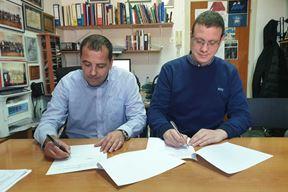 Lorenzo Gašparić i Roberto Krevatin potpisali su ugovor za SOM sport (N. TODORIĆ)
