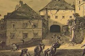Fotografija Kamenitih vrata nakon potres 1880. godine