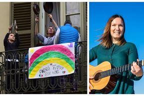 Talijani ni u karanteni nisu klonuli duhom - zajedništvo i pjesma na balkonima (HRT) / Andrea Prenka