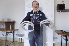 Valdi Glavić s 3D zaštitnim vizirima (Gordana ČALIĆ ŠVERKO)