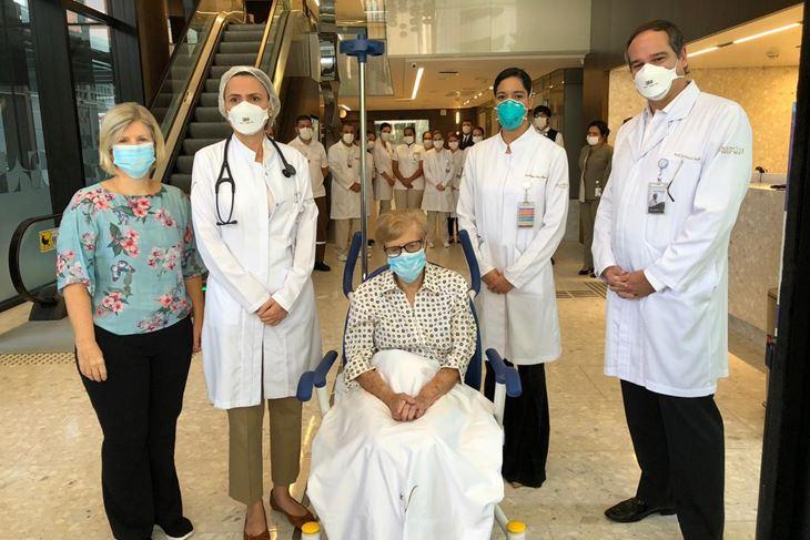 Gina Dal Colleto s bolničkim osobljem