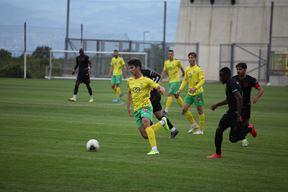 Proradio zeleno-žuti napad - Ivan Delić tijekom jučerašnjeg susreta s Goricom (www.nkistra.com)