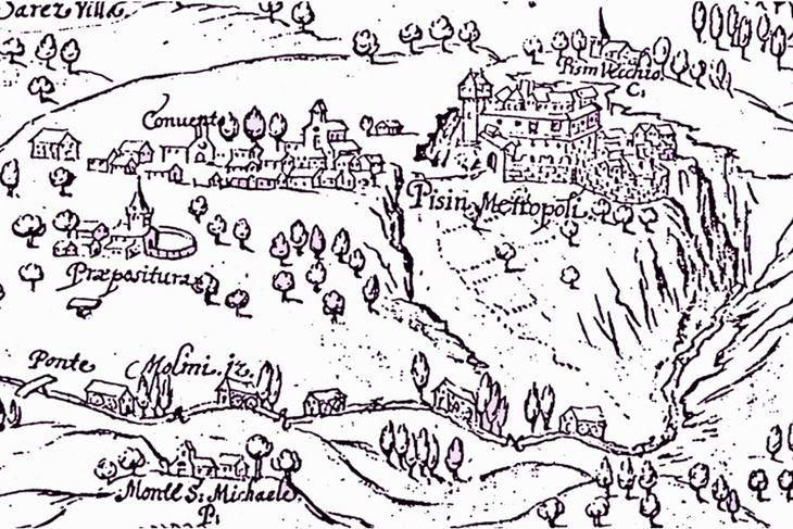 Prikaz Pazina iz 1642. godine
