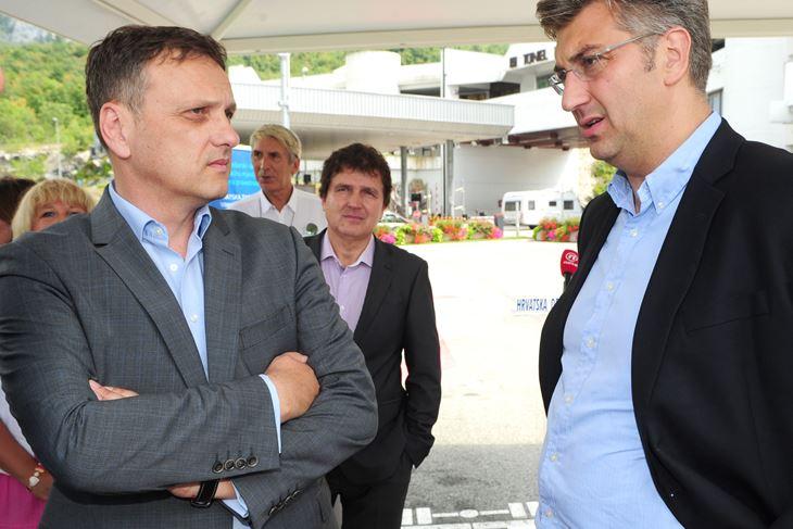 Anton Kliman i Andrej Plenković (Milivoj MIJOŠEK/Arhiva)