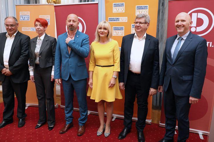 Damir Kajin, Spomenka Avberšek, David Bregovac, Ivana Slojšek, Mirando Mrsić i Renato Petek (Damjan TADIĆ/CROPIX)