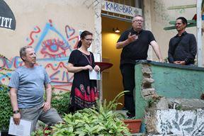 Noel Mirković, Ivana Nataša Turković, Darko Bavoljak i marino Jurcan govorili su na otvaranju izložbe (B. Vincek/Metamedij)