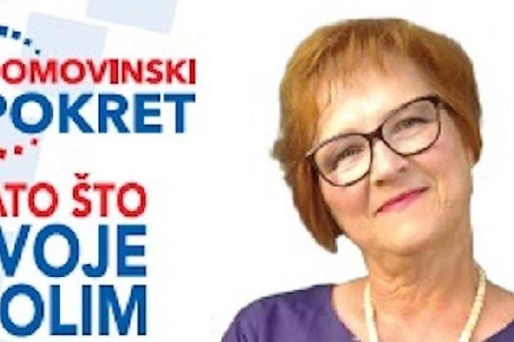 Davorka Smoković na listi Domovinskog pokreta