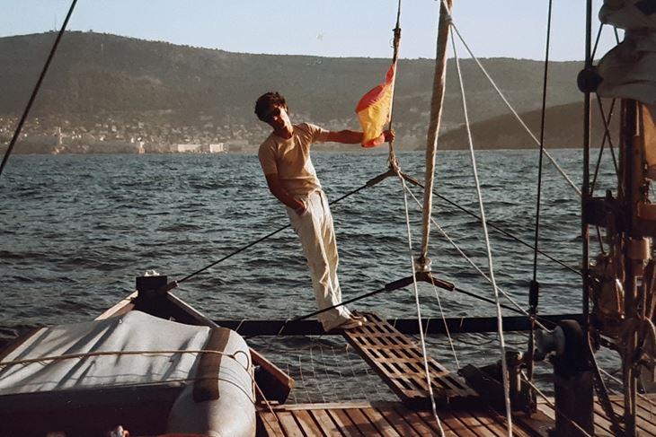 Alvaro Macchi u plovidbi pred Azurnom obalom