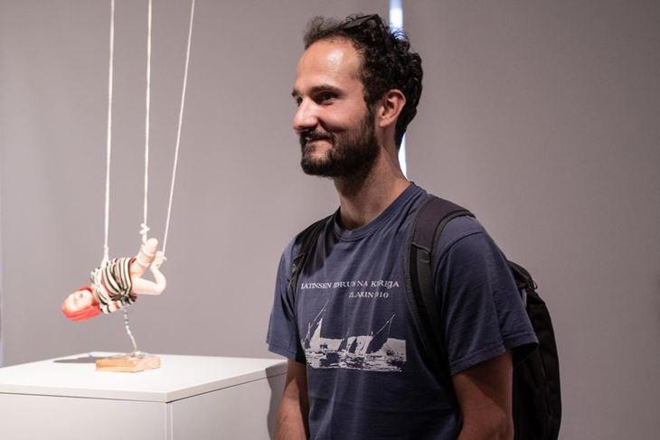 Iza kulisa Behind the scenes - Shoko Hara puppet, Natko Stipaničev