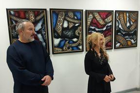 Autori izložbe Savo Rupić i Irina Černjavski Šantrić (Z. ANGELESKI)