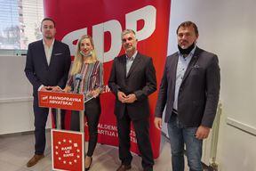 SDP-ovci danas na pressici - SIniša Gordić, Sanja Radolović, Igor Belas i Danijel Ferić