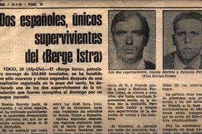Jedini preživjeli s broda Berge Istra -  Španjolci Imeldo Barreto Leon i Epifanio Perdomo Lopez (Foto: YouTube Screenshot)