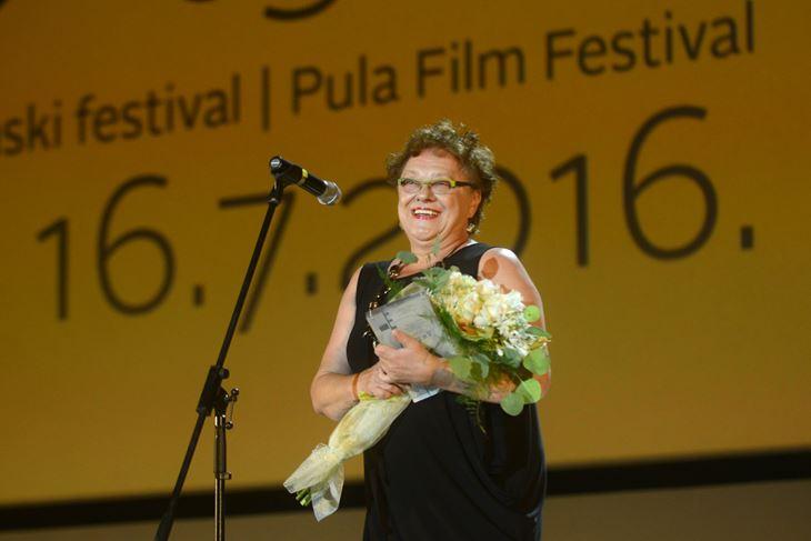 Vera Zima na Pula film festivalu 2016. godine (Snimio Dejan Štifanić)