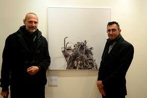 Kustosi Richard Edelsbrunner i Gerhard Gross na otvaranju izložbe u Makini (D. ŠTIFANIĆ)