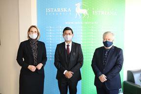 Zamjenica gradonačelnika Pule Puh Belci, veleposlanik Srivastava i v.d. župan Radin