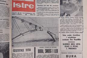 Naslovnica Gasa Istre 29.11.1978.