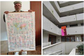 Rovinjski umjetnik Aleksandar Garbin / Zastava tik do njegovog stana