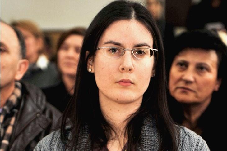 """Martina Vidić - prošlogodišnja laureatkinja Nagrade """"Goran za mlade pjesnike"""" (Snimio Livio Černjul / Novi list)"""
