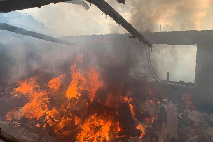 Požar gospodarskog objekta u Rovinju (Foto JVP Rovinj)