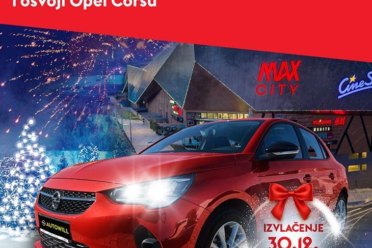 Crvena Opel Corsa koja se dobiva za nagradu