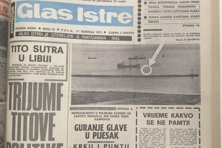 Glas Istre, 1977. godina