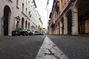 Prazne ulice Brescije danas (Foto EPA)