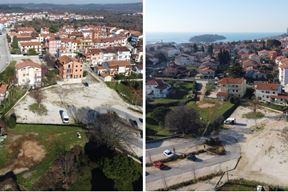 Veći dio površine trenutno se koristi kao neuređeno parkiralište