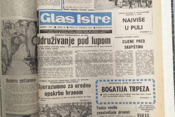 Glas Istre, 1984. godina