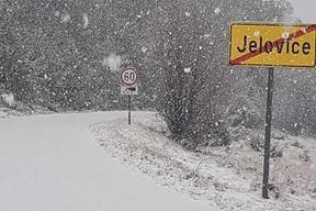 Današnji snijeg na Ćićariji (Snimio Tomislav Cendak / Istramet)