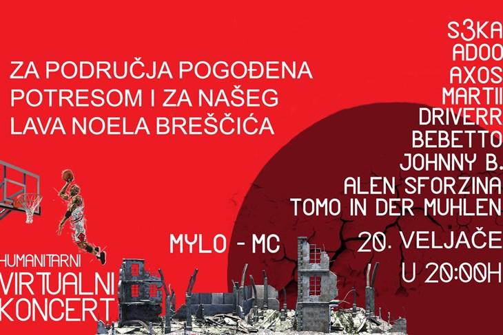 Plakat humanitarnog koncerta
