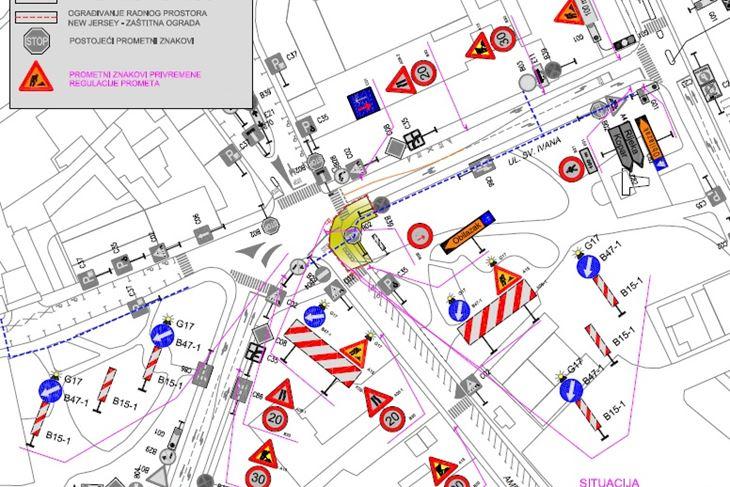 Privremena regulacija prometa u dijelu Amfiteatarske ulice i Ulice sv. Ivana