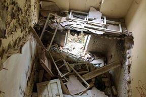 Lopovi su ukrali kamene stepenice u jednoj od zgrada na Vallelungi (Snimila Borka Petrović)