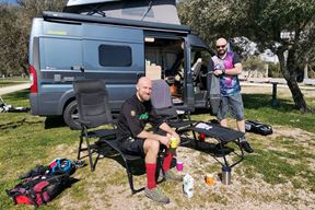 Danilo i Martin prvi su turisti iz Njemačke u autokampu Oliva u rabačkoj Maslinici
