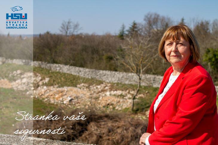Alda Miletić, predsjednica labinskog HSU-a