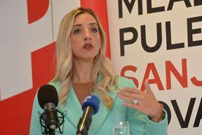Sanja Radolović na današnjoj pressici (snimio D. MEMEDOVIĆ)