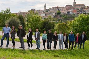 Fabrizio Vižintin s članovima IDS-ove liste za Gradsko vijeće Buja