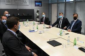 Premijer Plenković i šef istarskog HDZ-a Anton Kliman na sastanku u BAT-u (snimio M. MIJOŠEK)