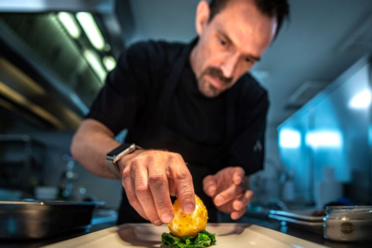Austrijski chef Daniel Tschachler odnedavno u pomerskom restoranu Sopravento (Snimio Danijel Bartolić)