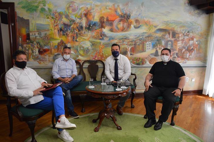 Daniel Sponza, Bruno Krajcar, Filip Zoričić i don Rikard Lekaj