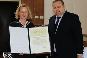 Lina Pliško na svečanom uručivanju priznanja