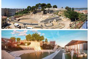 Malo rimsko kazalište sada, i projekcija