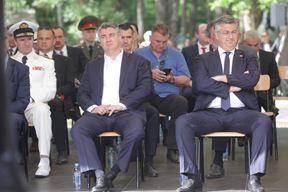 Zoran Milanović i Andrej Plenković danas u Brezovici (Snimio Dario Grželj / Hina)