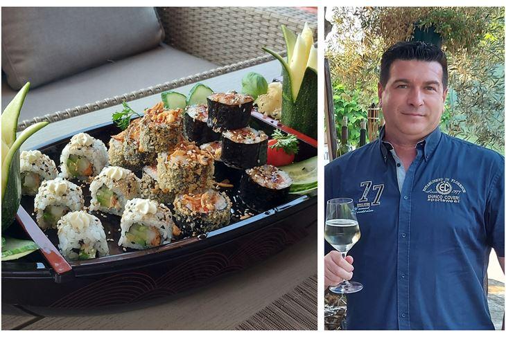 Sushi pripremljen na originalan način/Zoltan Bauer, vlasnik Sushi & Lobster restorana i Chef sushi