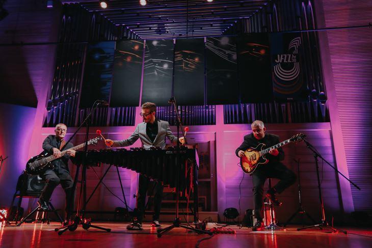 Večeras nastupaju vibrafonist Vid Jamnik, gitarist Primož Grašič i basist Mario Mavrin (Snimio Matej Grgić)