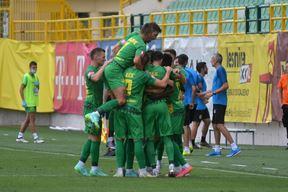 Rijetka slika na početku sezone - Zeleno-žuti slave pobjedu (Snimio Danilo Memedović)