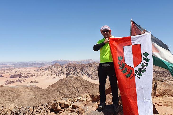 Kemal Pršeš nedavno se popeo na najviši vrh u Jordanu