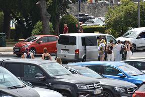 Centar Pule je često zakrčen automobilima (snimio D. MARUŠIĆ ČIČI)