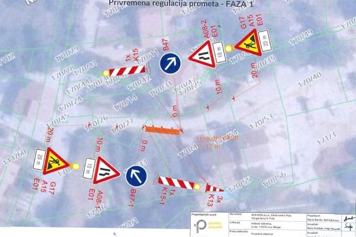 Privremena regulacija prometa Štinjanska cesta