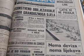 Naslovnica Glasa Istre iz 1980.