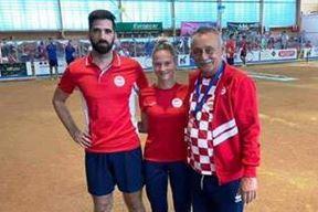 Bruno Kraljić, Ria Vojković i izbornik Vjeko Matetić (Foto IBS)